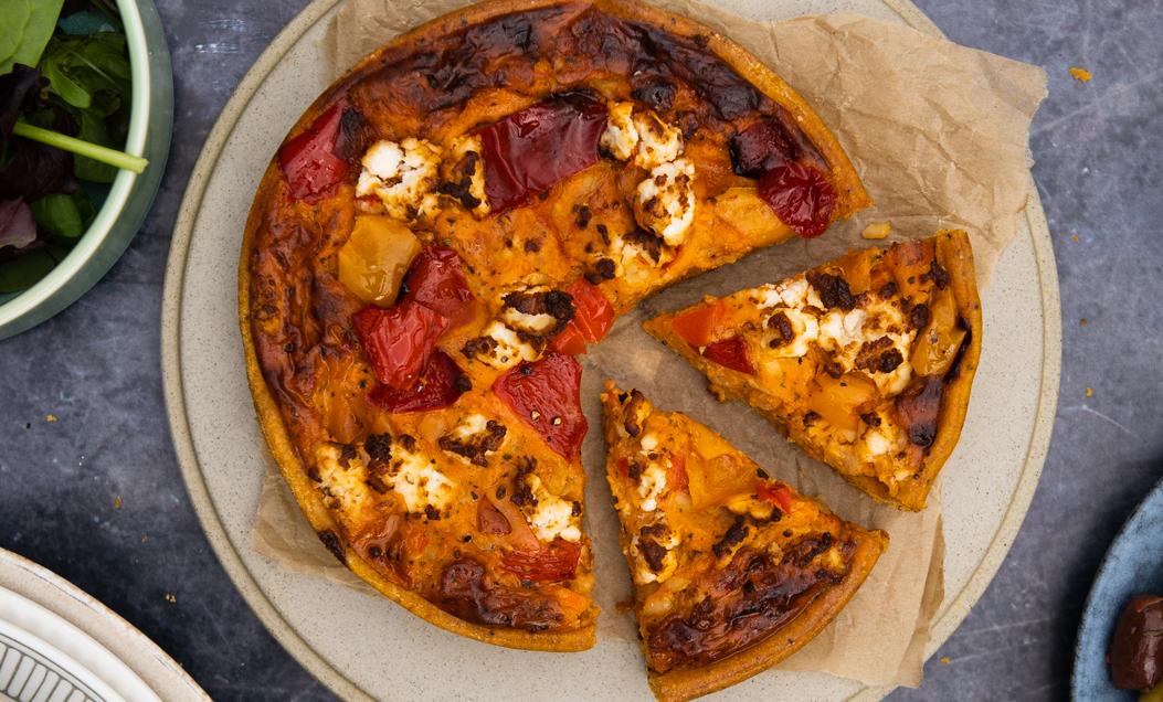 Image of Mediterranean Pepper & Feta Quiche